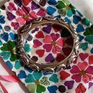 Two tone open bracelet by Brighton